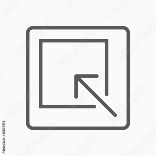 Canvastavla arrow minimize icon, arrow vector