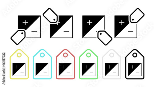 Fotografiet Impact vector icon in tag set illustration for ui and ux, website or mobile appl