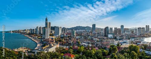 Fotografia Aerial photography of the architectural landscape of Yantai City