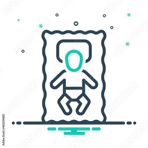 Mix icon for infant Fototapeta