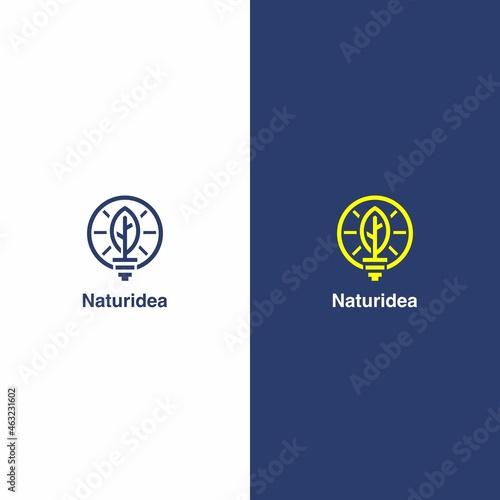 Murais de parede Leaf Idea Logo Vector, Nature Idea