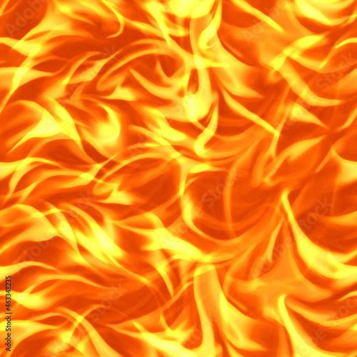 Seamless texture of fire Fototapet