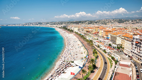 Photo View of the cote d'Azur in Nice, France