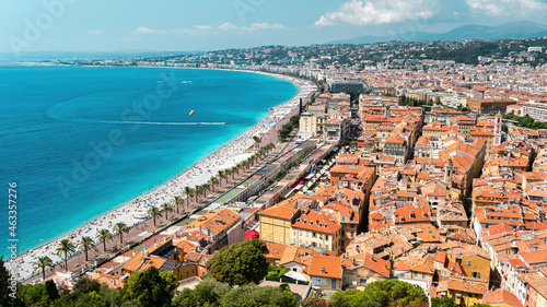Canvas Print View of the cote d'Azur in Nice, France