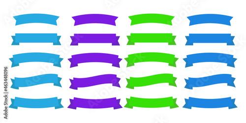 Fototapeta Flat vector ribbons. Banners flat. Banner ribbon vector set