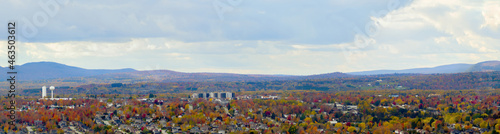 Canvas-taulu Sherbrooke Quebec panoramic landscape mountain and clouds skyline Eastern Townsh