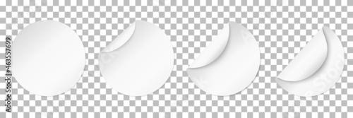 White blank stickers Fototapet