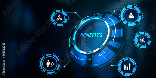 Murais de parede Employee benefits help to get the best human resources