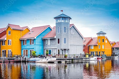 Canvas-taulu Reitdiep, Groningen, Groningen Province, The Netherlands