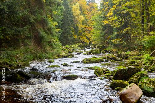 Kochel, Fluss im Riesengebirge, Polen Fotobehang