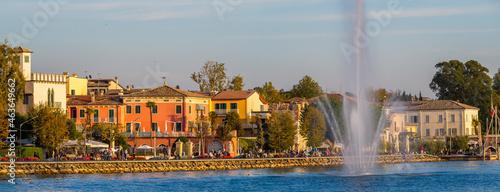 Fotografie, Obraz Sunset in Bardolino on Lake Garda