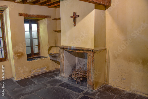 Fototapeta Lourdes, France - 9 Oct 2021: Le Cachot, a small museum marking the childhood ho