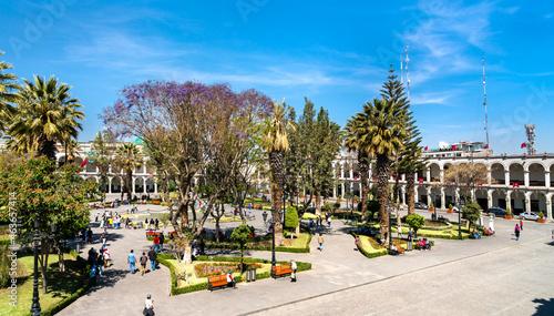 Plaza de Armas of Arequipa in Peru