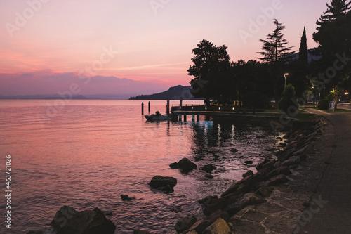 Canvastavla Lake at the sunset