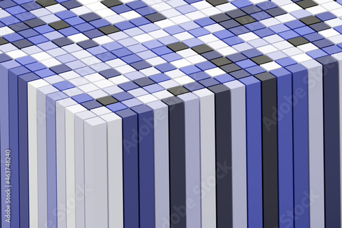 Wall mural Pattern of colored Cubes