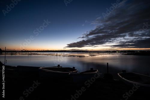 Obraz na plátně 印旛沼の夜明け 10月