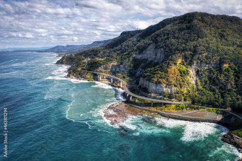Canvas Sea cliff bridge
