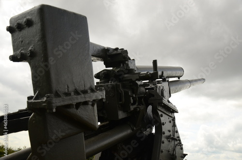 Foto British ww2 artillery gun, costal defence, river Humber, Yorkshire