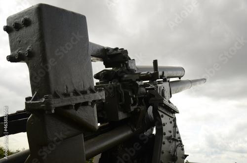Canvas World war two,  artillery gun, artillery gun  battery