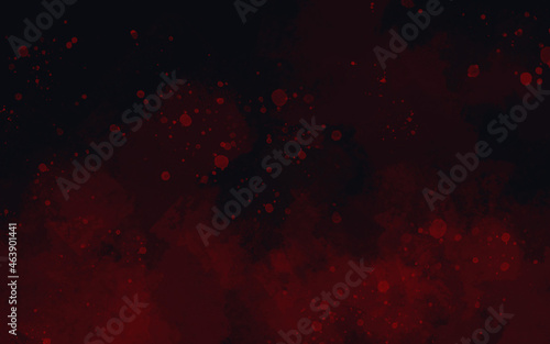 Fondo abstracto acuarela digital rojo y negro Fototapet
