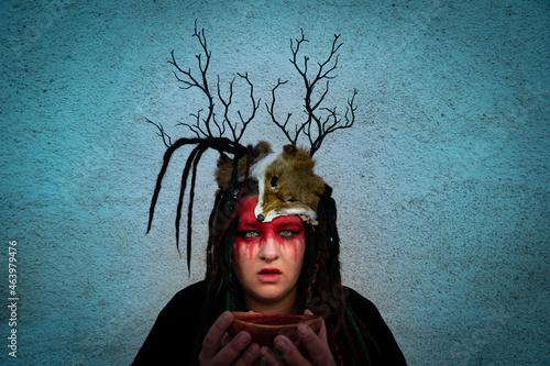 Photo Ritualportrait mit dem Bluttrank