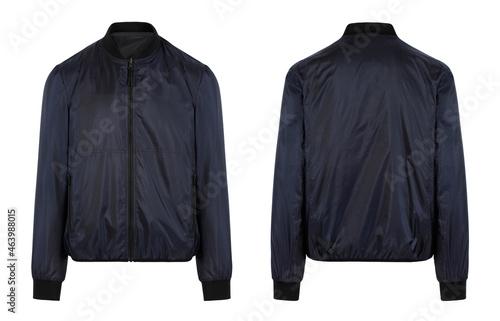 blue man's jacket. front and back view Tapéta, Fotótapéta