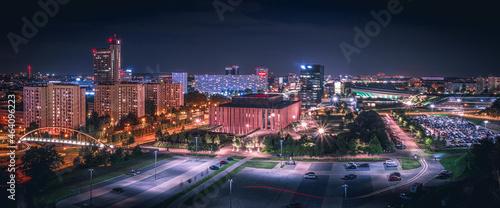 Fotografia, Obraz Nocna panorama Katowic | Górny Śląsk, Katowice