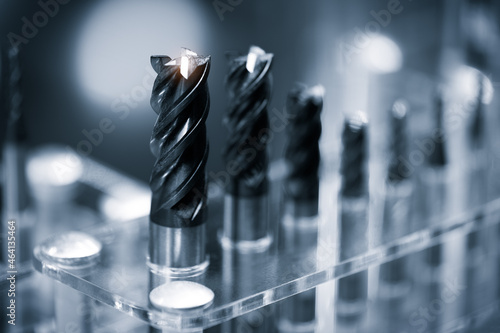 Canvas Drill bits of different sizes, close-up