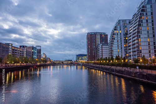 Dusk view of Castlefield - an inner city conservation area of Manchester in North West England Fototapeta