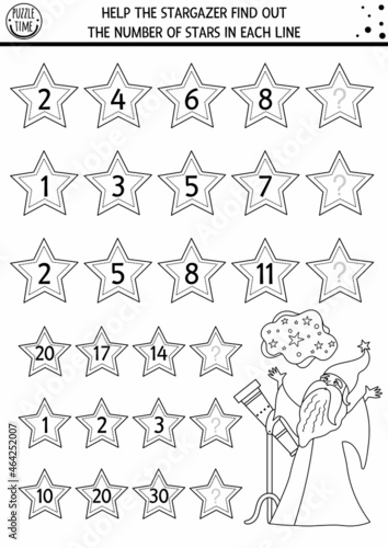 Help the stargazer find out the number of stars Fototapeta