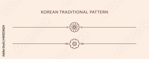Foto Korean traditional line pattern