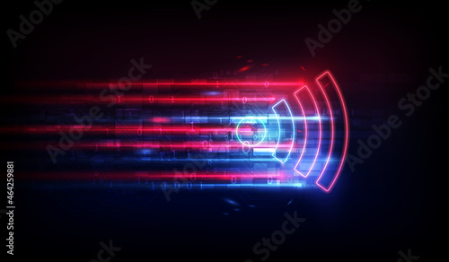 Fotografia Wifi antenna for data transfer background