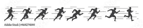 Fotografie, Obraz sport run silhouette vector icon illustration