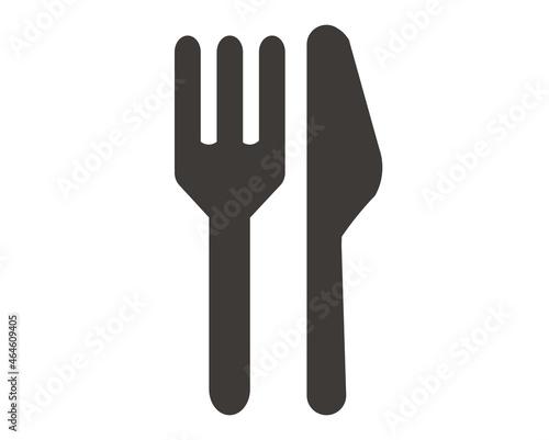Obraz na plátne フォークとナイフのピクトグラムのベクターイラスト素材/TAKEOUT/レストラン