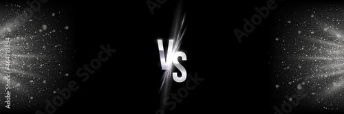 Obraz na plátně Silver vs, versus fight confrontation, abstract battle or match competition bann