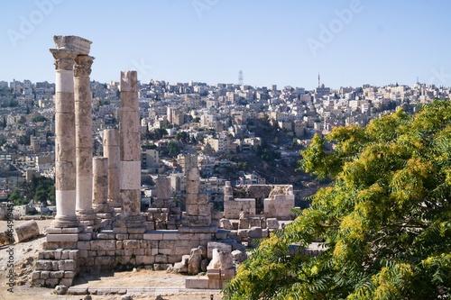 Fotografie, Obraz Old citadel in Amman, Jordan