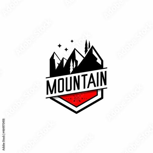 mountains and adventure logo illustration vector Fototapet