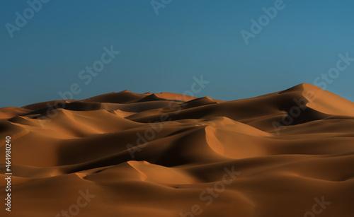 Fotografiet sand dunes in the desert