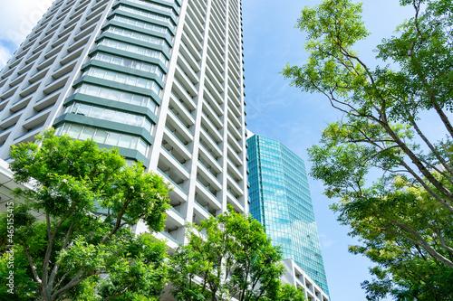 タワーマンション・風景 Fototapet